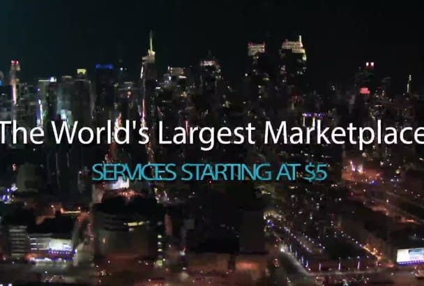 make New York City night intro with your logo