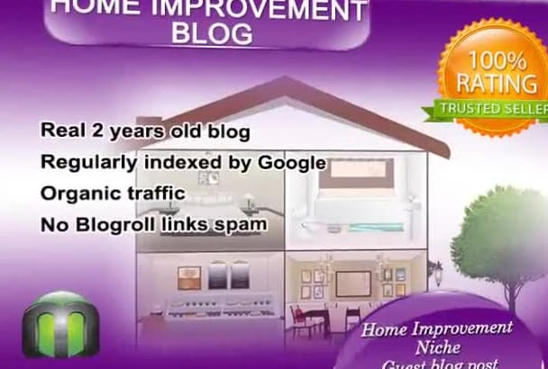write and guest post on my HOME improvement blog