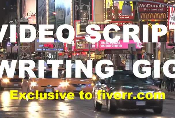 copywrite your Sales Video script for you