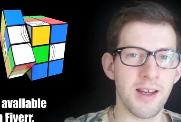 reveal your image in a rubiks cube animation
