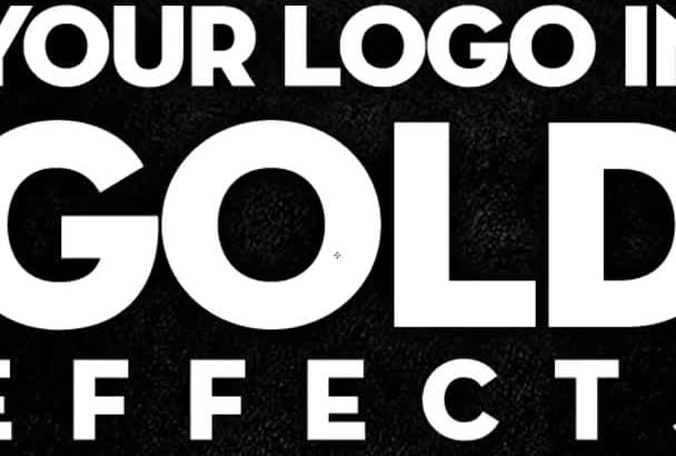 transform your text, logo to chrome, gold or any color