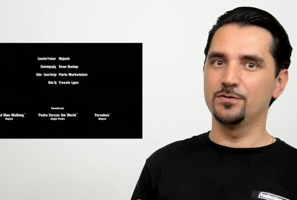 create closing rolling credits for your film