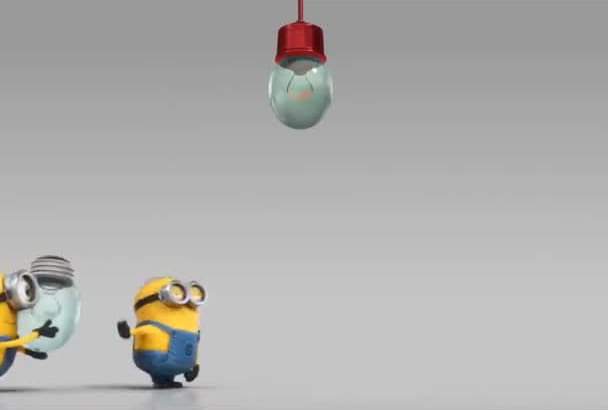 make a very Funny Evil Minion video with your Logo or Text like this