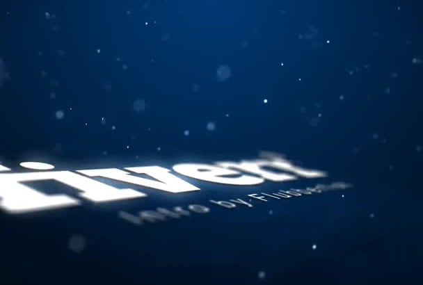 create a space style HD text or logo reveal intro