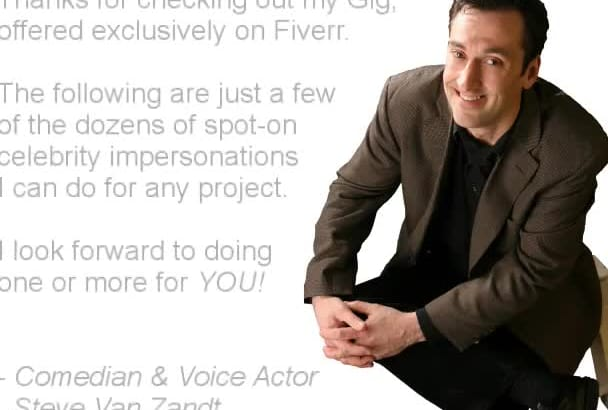 record A REALISTIC Celebrity Impersonation Voice Over