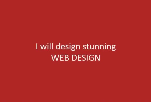 design A Stunning Web Design