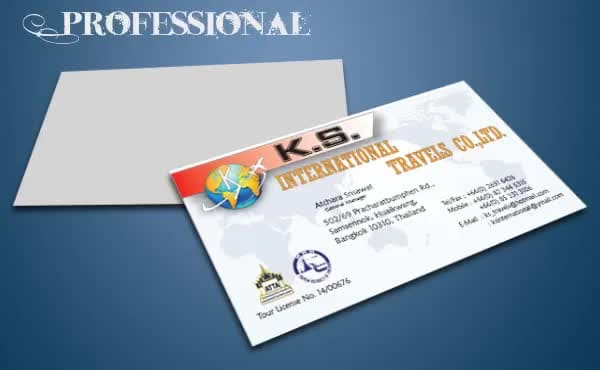 design professional business card and a logo