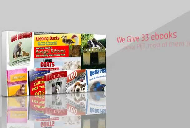 give 33 MRR professional ebooks in Animal Care, Breeding, Training