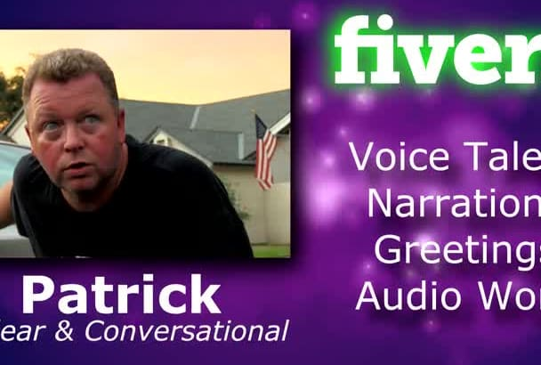 record a clear, natural voice over or greeting