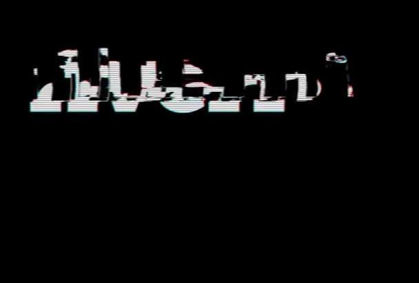 glitch Intro your 2D logo