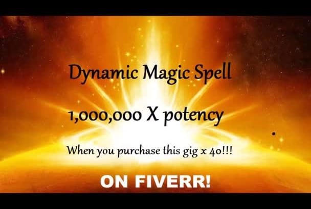 unbelievably Powerful LoVE SPELL or Real Magic Spell up to 1,000,000x potency