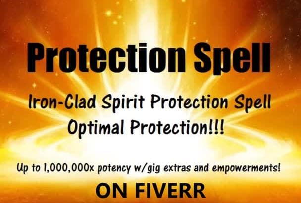 cast SPELL for Dynamic Iron Clad Protection Shield up to 1million x potent