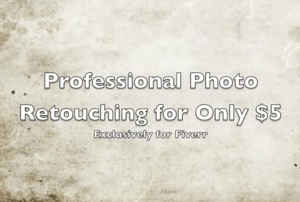 retouch your RAW images professionally