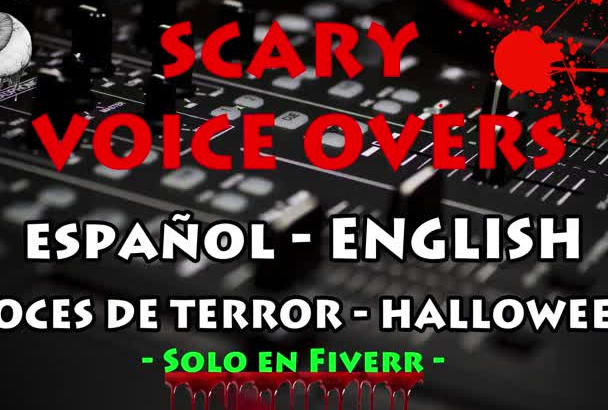 record a scary halloween voiceover or audio spot