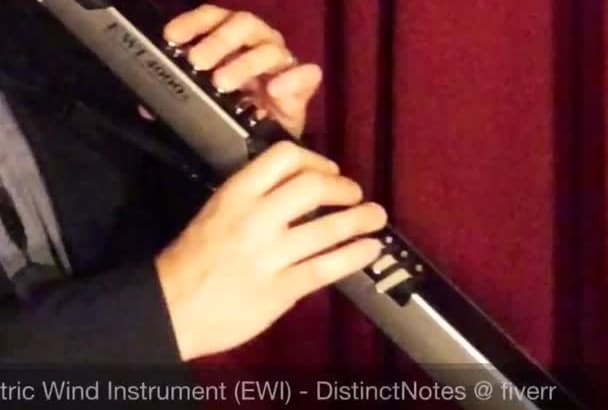play Electric Wind Instrument, aka EWI, and record a track for your song