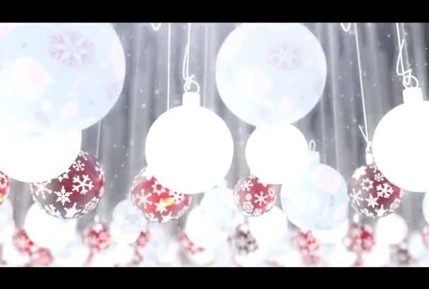 create a Chrismas Logo Animation For the Holidays