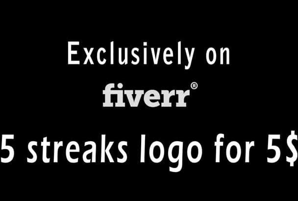make 5 Awesome Streaks Logo Sting HD