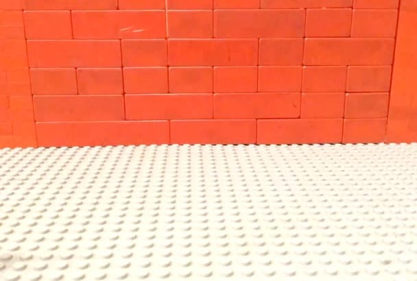 put your logo or special message in a Lego stop motion