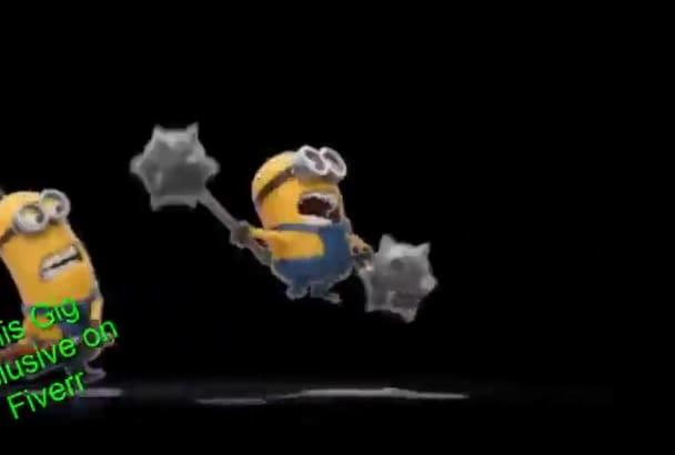 funny Minion Thanksgiving LOGO Reveal Video