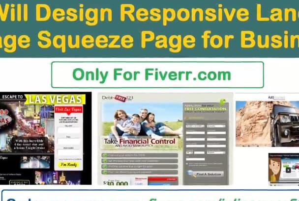 design responsive landing and squeeze page