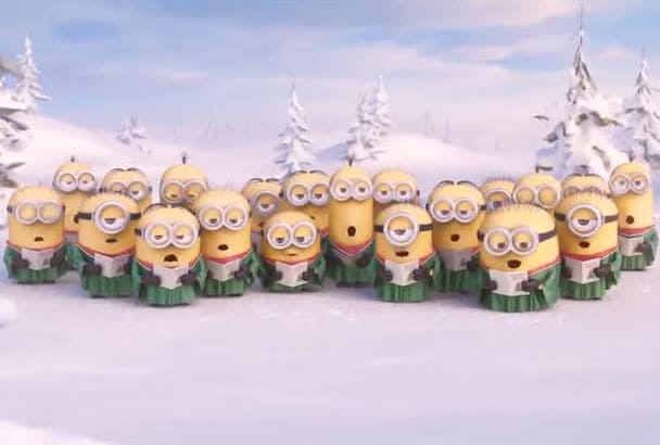 create MINIONS holiday video