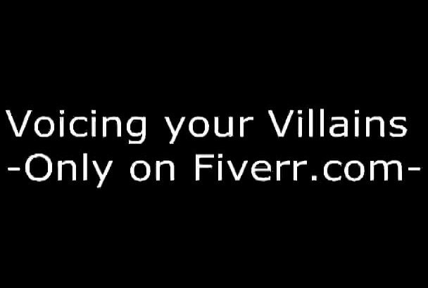 record a voiceover as a villain in your project