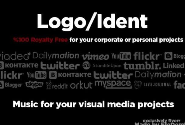 send 20 royalty free Logo, Ident short Jingle