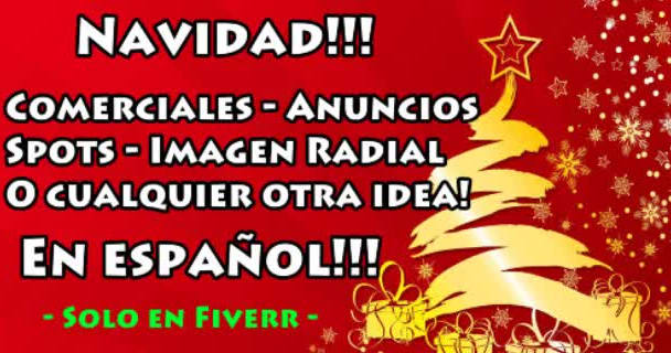 do Christmas Spots Radio Message in SPANISH or English