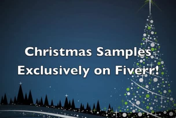 record a Christmas piano track for you