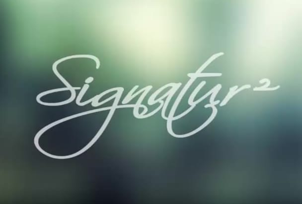 do animation of your handwritten signature style logo