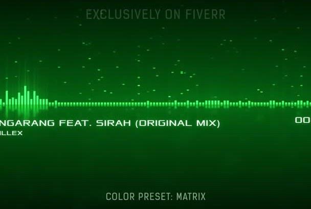 make the Classic Spectrum Music Visualization Video