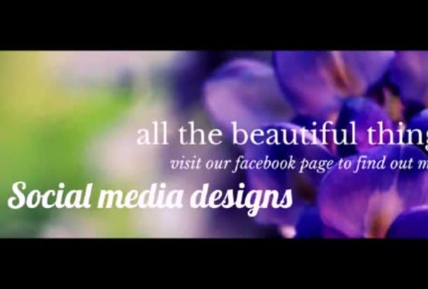 unique social media designs