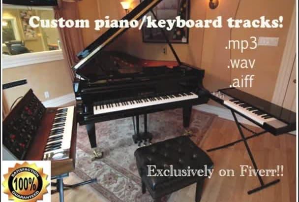 create a high quality piano or keyboard track