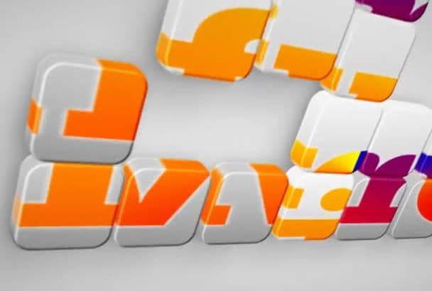 make a PUZZLE Logo Intro Video