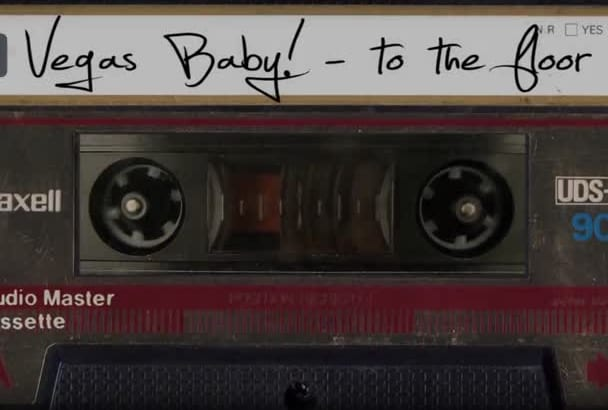 create a retro cassette tape video for your song