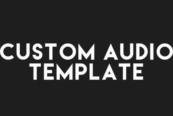 An Audio React Template For After Effects