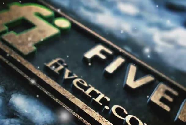 create a Christmas Cinematic Winter Snowfall Intro