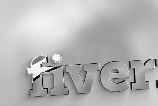 create this professional Silver Chrome logo intro