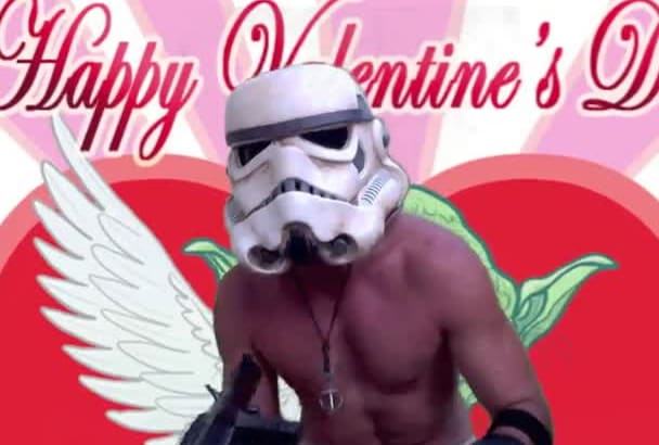 personalize this Valentines Day Star Wars Video