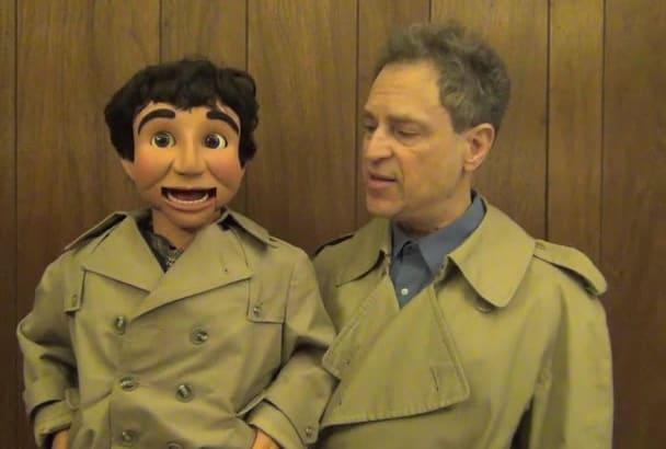 make a ventriloquist detective message video