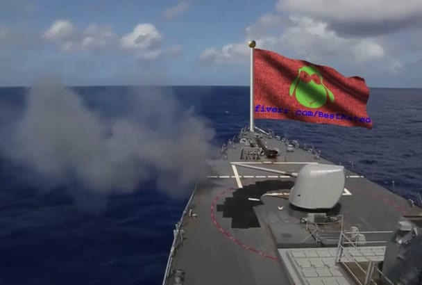 put anything on a firing BATTLESHIPS flag