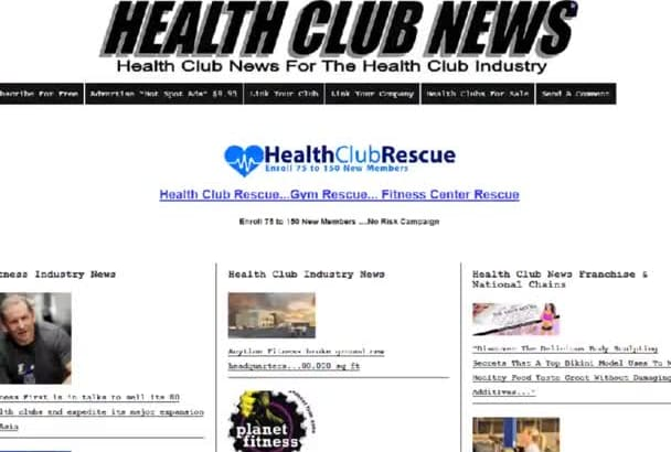 advertise your brand on Health Club News