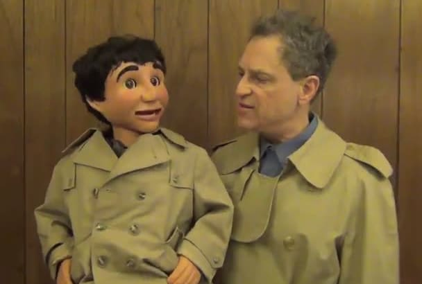 make your promo video as a ventriloquist detective