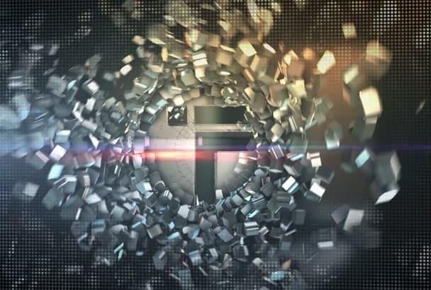design a metallic crystal logo video intro