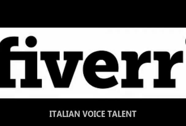 exclusive Italian National Voice Talent