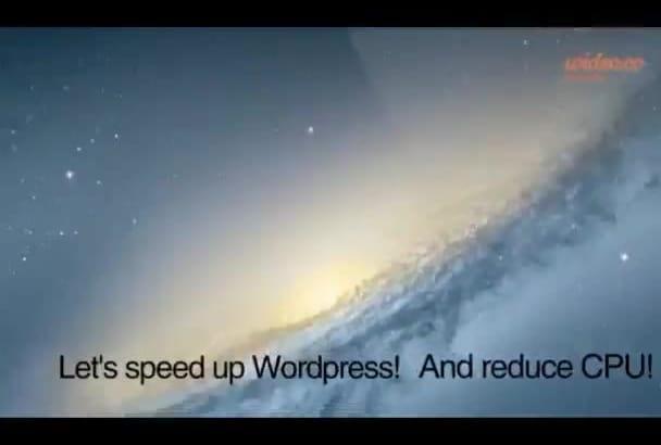 increase wordpress speed and reduce CPU usage