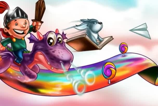 create cute children book illustrations