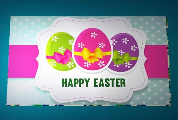 create Easter video greeting card