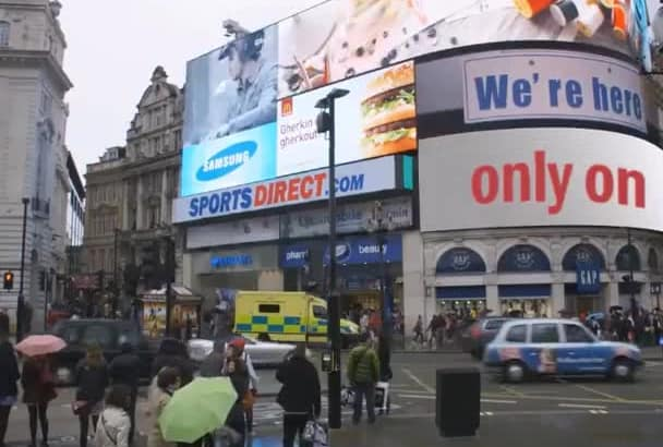 place whatever you want in Piccadilly Circus