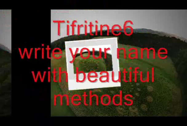 write your name with beautiful methods